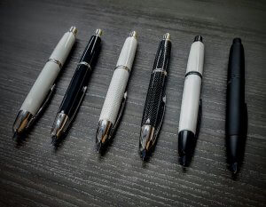 Black and White Capless Pens