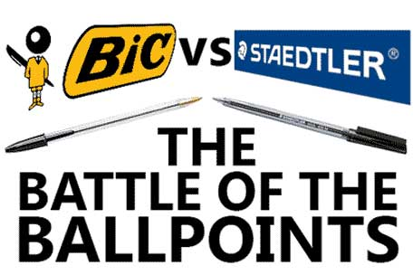 Bic vs Staedtler The Battle of the Ballpoint