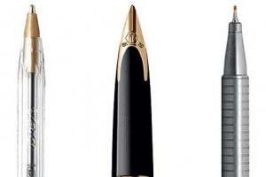 Different pens