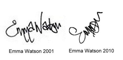 Emma Watson Signature