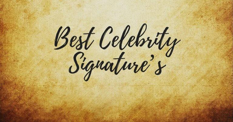 Best Celebrity Signatures