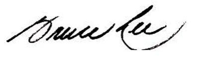 Bruce lee Signature