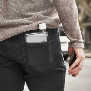 The Memobottle fits in your pocket
