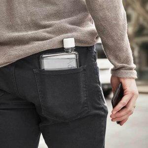 The Memobottle fits in your pocket